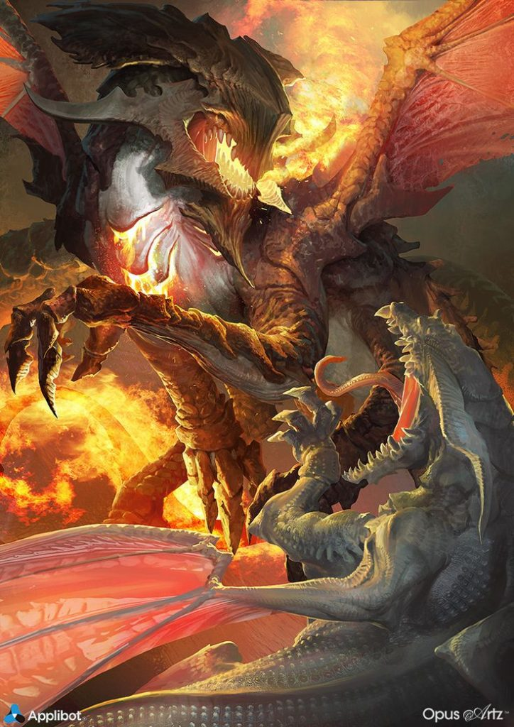 Angels And Demons Battle Art