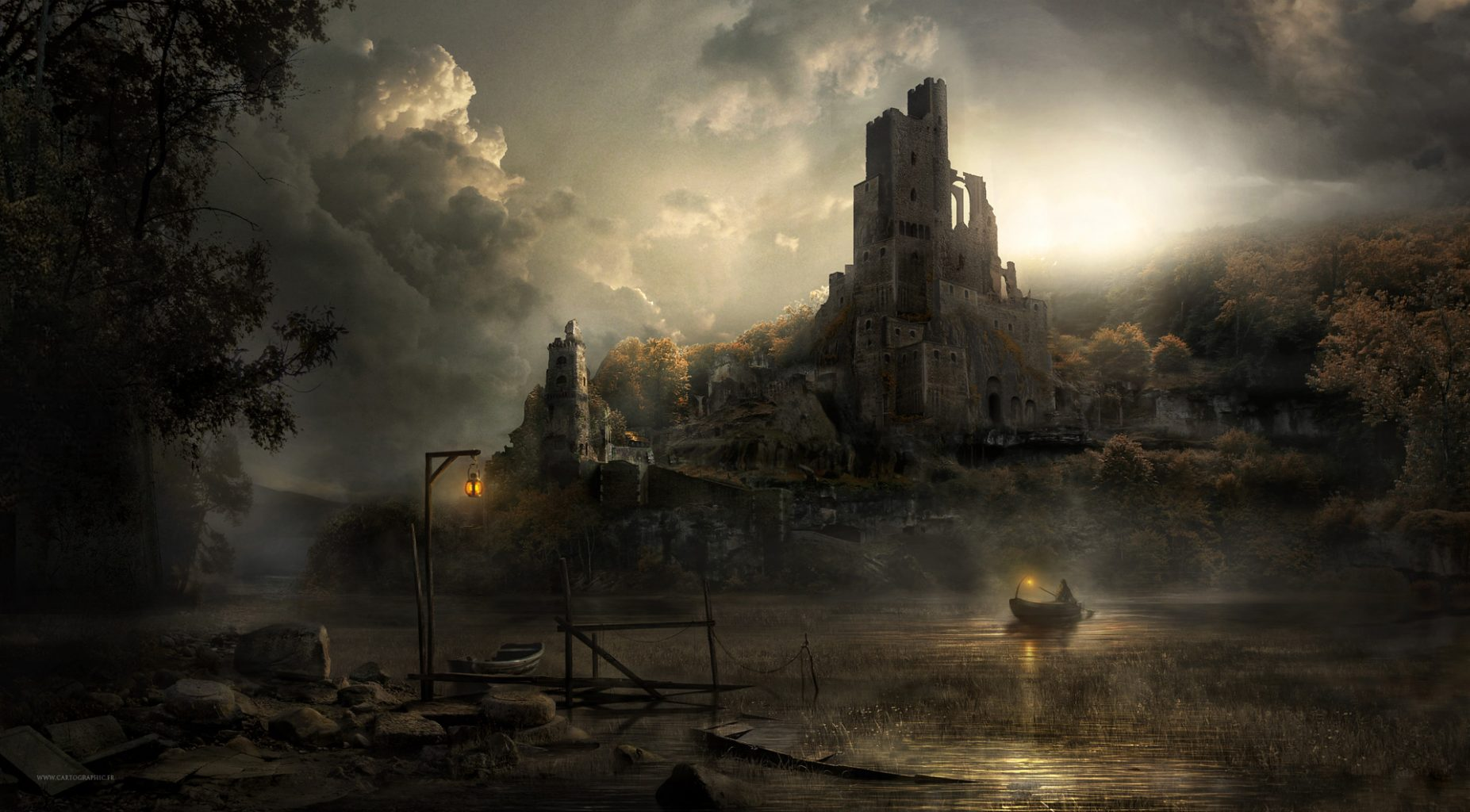 ruined castle concept art