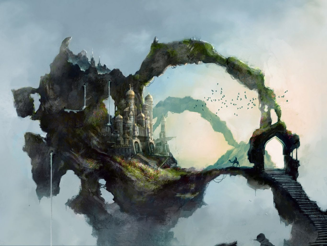 fantasy art landscapes drawings