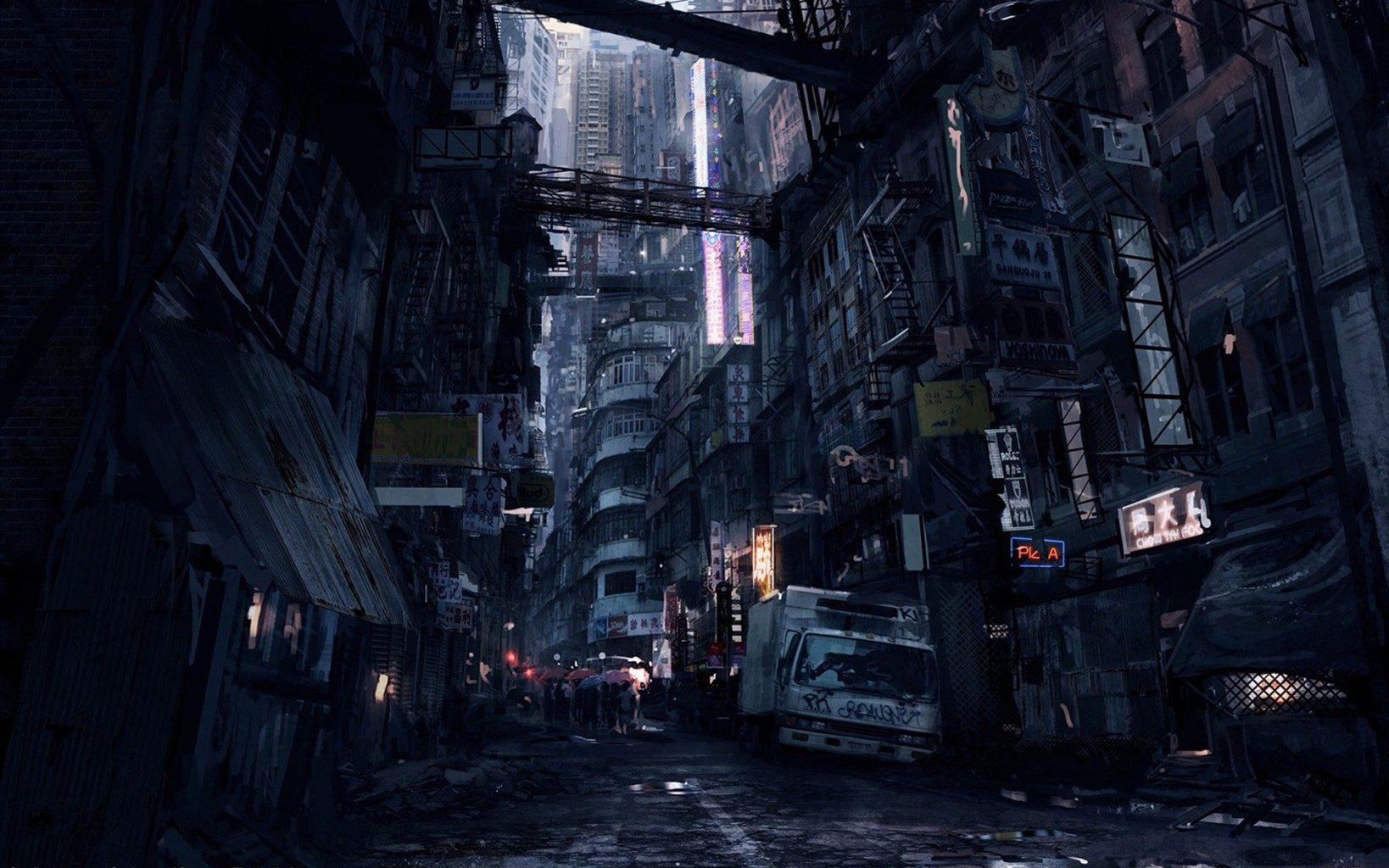 Cidades de um futuro sombrio wallpapers cyberpunk r2pg for Road case paint