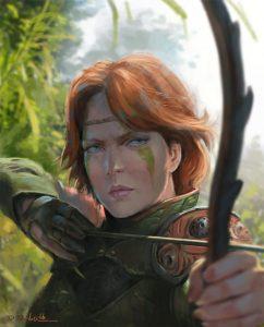 davood-diba-archer-girl2