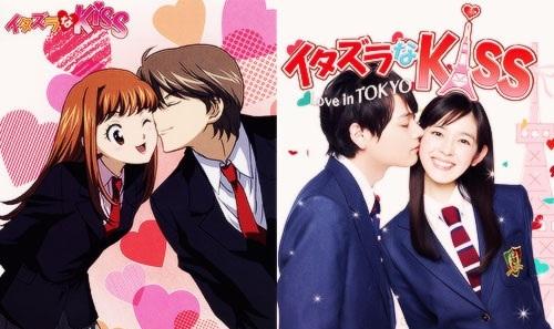 itazura na kiss anime vs dorama
